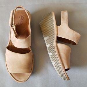 Clarks Artisan wedge sandals